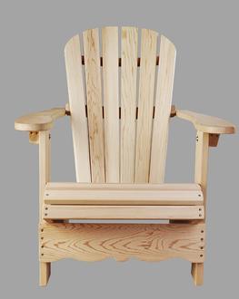 Chaise adirondack chaises pliables en c dre rouge for Plan de chaise adirondack gratuit