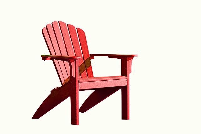 Chaise adirondack costline cherry achat vente de chaises - Chaise adirondack plastique recycle costco ...