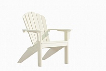 Photo 1 : Chaise Adirondack Costline Blanc, En plastique recyclé