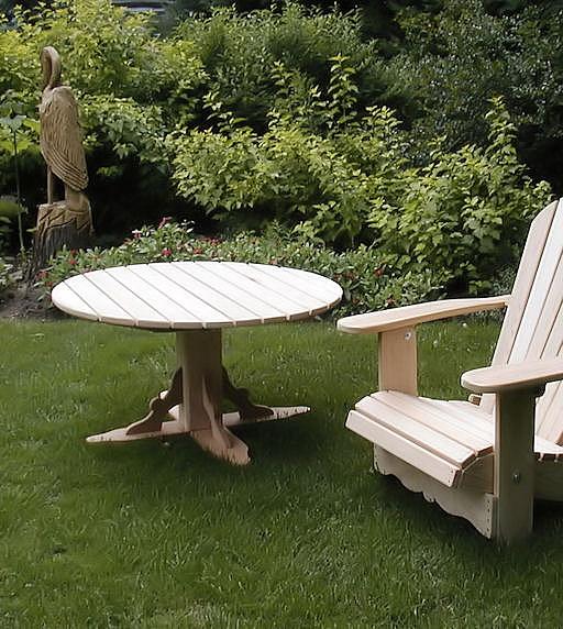 Table adirondack picnic acajou achat vente de chaises for Chaise a trou