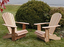 Pair of Royal Adirondack Chairs , Special price  : Adirondack Chairs, in red cedar, Chairs and patio set, Save with our quantity discounted prices