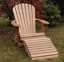 Zen set one chair plus the Ottoman, Special price : Adirondack Chairs, in red cedar, Chairs and patio set, Save with our quantity discounted prices