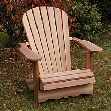 Adirondack chair flexible chairs in red cedar for Chaise adirondack canadian tire