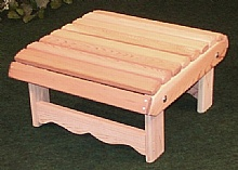 Ottoman foot rest natural, In Western red Cedar : Adirondack Chairs, in red cedar, Made with Red Cedar, Red Cedar from Canada