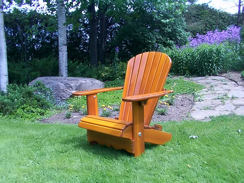 adirondack chair light golden achat vente de adirondack chairs in red cedar made with red cedar. Black Bedroom Furniture Sets. Home Design Ideas